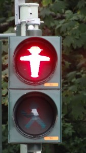 red ampelmann east german traffic light man