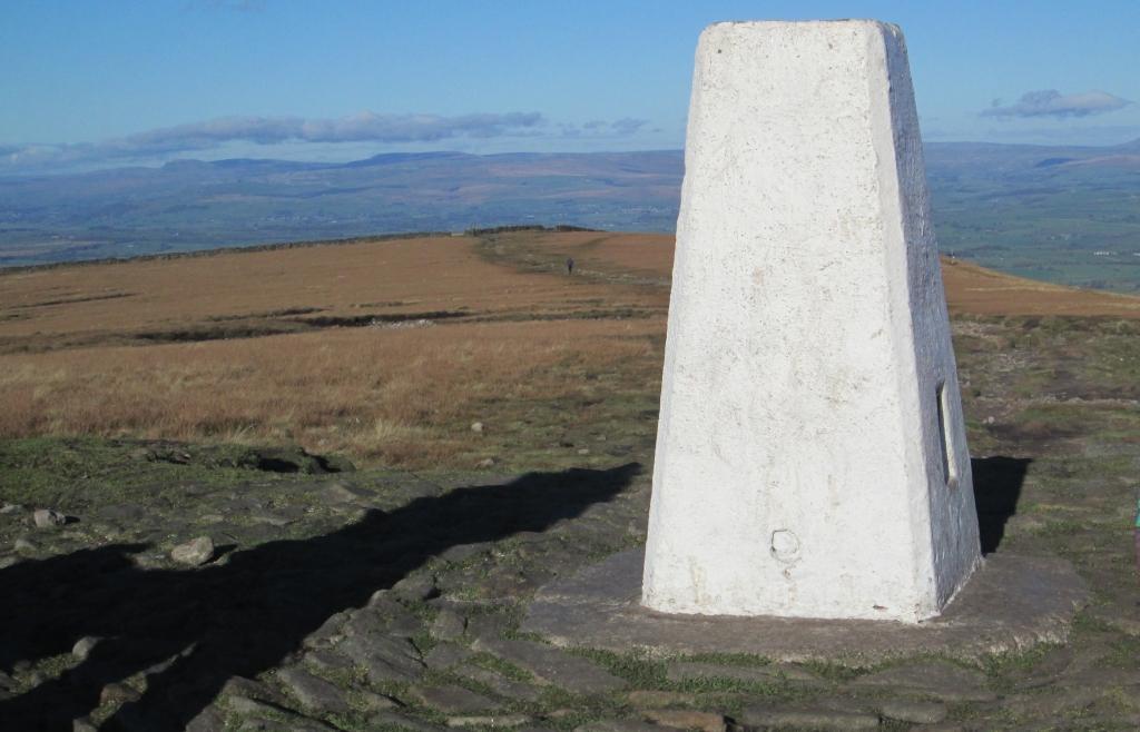 trig point, pendle hill, lancashire