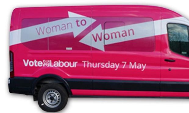 labour party pink bus
